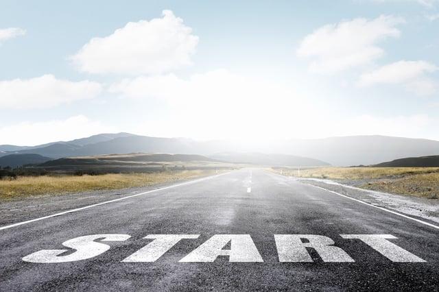 Start word as motivation writen on asphalt road.jpeg